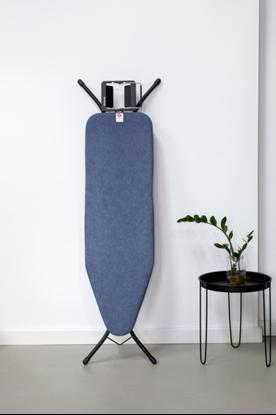 Attēls no BRABANTIA gludināmā dēļa pārvalks, 124x38 cm, Denim Blue (B) 4mm+ 4mm filcis