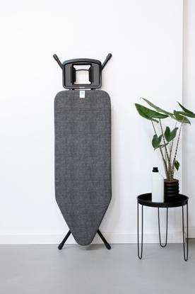 Attēls no BRABANTIA gludināmā dēļa pārvalks, 124x45 cm, Denim Black (C) 4mm+ 4mm filcis