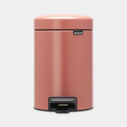 Picture of BRABANTIA atkritumu tvertne ar pedāli NewIcon, 3 l, Terracotta Pink