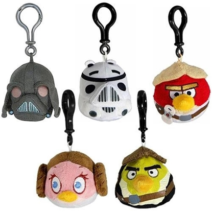 Attēls no Angry Birds Star Wars - Clip-On Plushes Random Assortment (1 Unit)