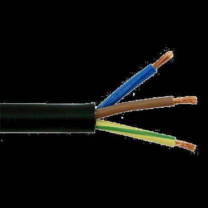 Attēls no CYKY 3x2.5 elektrības kabelis ar vara monolītu dzīslu. Paredzēts lietošanai ārtelpās.