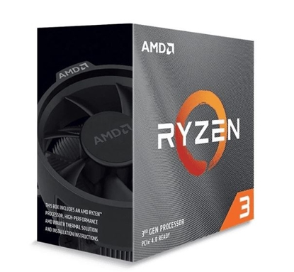 Изображение AMD Ryzen 3 3100, 3.6 GHz, AM4, Processor threads 8, Packing Retail, Processor cores 4, Component for PC