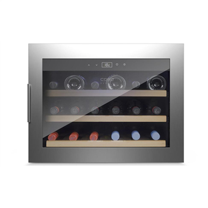 Attēls no Caso Wine cooler WineSafe 18 EB  G, Built-in, Bottles capacity Up to 18 bottles, Cooling type Compressor technology, Stainless steel