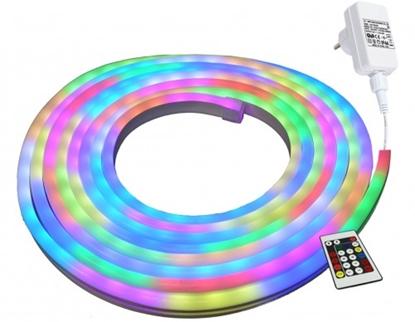 Attēls no Krāsainas RGB LED NEON FLEX lentes komplekts, 5m, 24W RGB, IP44, 220V