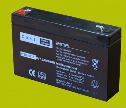 Picture of Meža Medību kameras ārējais akumulators 6V 7.2Ah :: Svina-Skābes :: 6 Volti, 7.2 ampērstundas (Ah)