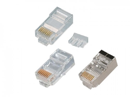 Attēls no RJ45 konektors CAT5E UTP LAN kabelim