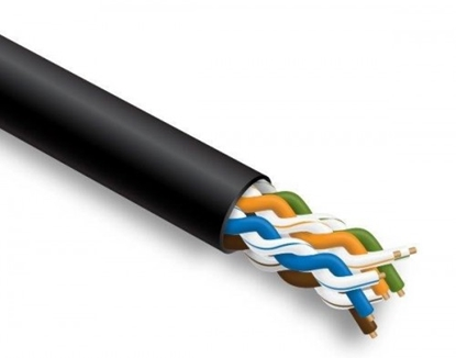 Attēls no Datortīklu kabelis, INSTALL BASE,  CAT5E UTP, ārdarbu montāžai, 305m