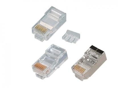 Picture of RJ45 konektors CAT6 UTP LAN kabelim, divdaļīgs