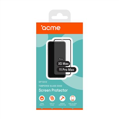 Изображение ACME SP1202 tempered glass edge FG for iPhone Xs Max/11 Pro Max, black