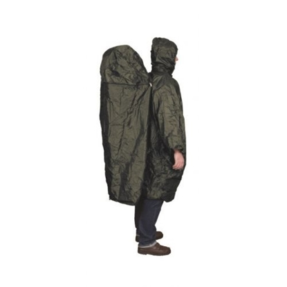 Picture of TRAVELSAFE Poncho With Zipper Extension / Tumši zaļa / L / XL