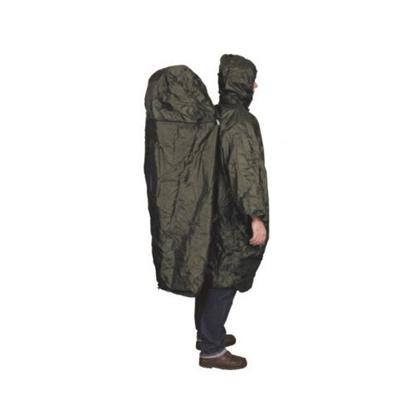 Attēls no TRAVELSAFE Poncho With Zipper Extension / Tumši zaļa / L / XL