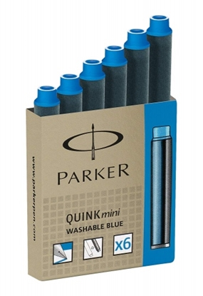 Attēls no Pen Ink Cartridges Parker, Short, Blue (6 pcs.)