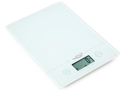Изображение Adler AD 3138 w kitchen scale Electronic kitchen scale White Countertop Square