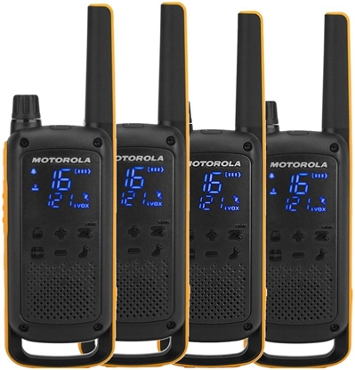 Picture of Motorola Talkabout T82 Extreme Quad Pack two-way radio 16 channels Black,Orange