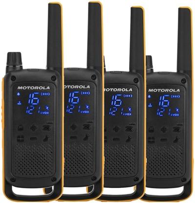 Изображение Motorola Talkabout T82 Extreme Quad Pack two-way radio 16 channels Black,Orange
