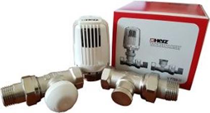 """Изображение HERZ   radiatoru termoregulatoru komplekts 1/2"""", taisn. (3+)"""