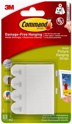 Attēls no 3M hanging strips Command S 2×4pcs
