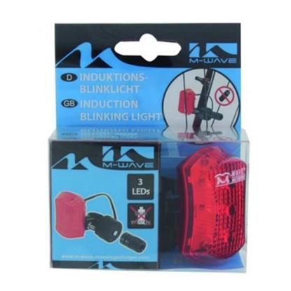 Attēls no -NAV ZINāMS Induction Safety Blinking Tail Light 3 LED
