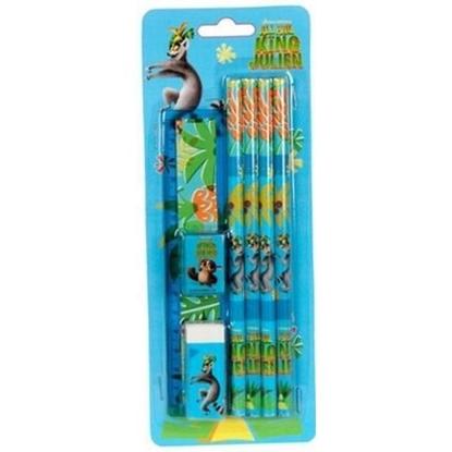 Attēls no Paso 00-3759PS Penguins set 4 pencils / Ruler 15cm / Sharpener / Eraser
