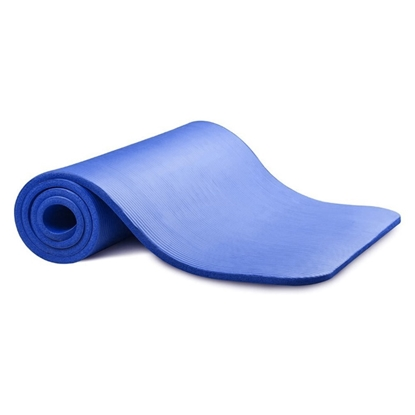 Attēls no TakeMe Vingrošanas neslīdošs treniņu paklājs (181x63x1cm) uzglabāšanas somiņā Zils