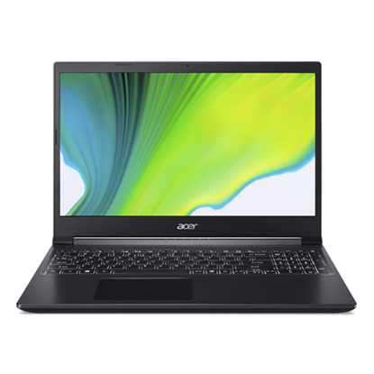 """Изображение Acer Aspire 7 A715-41G-R0E0 Charcoal Black, 15.6 """", IPS, FHD, 1920 x 1080 pixels, Matt, AMD, Ryzen 7 3750H, 8 GB, DDR4, SSD 512 GB, NVIDIA GeForce GTX 1650 Ti, GDDR6, 4 GB, No ODD, Windows 10 Home, 802.11 ax/ac/a/b/g/n, Bluetooth version 5.0, Keyboar"""