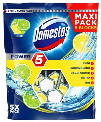 Picture of Domestos Power 5 Disinfecting cleaner Solid Lime
