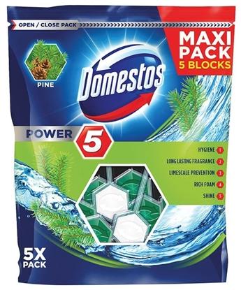 Изображение Domestos Power 5 Disinfecting cleaner Solid Pine