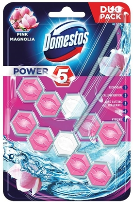 Изображение Domestos Power 5 Disinfecting cleaner Solid Pink Magnolia