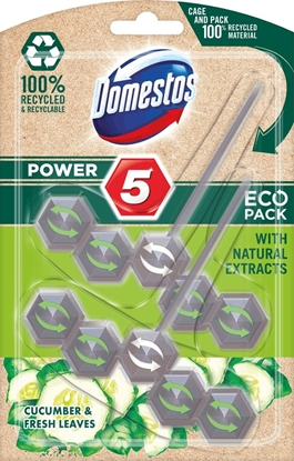 Изображение Domestos Power 5 Eco Toilet Rim Block Cucumber 2x55g