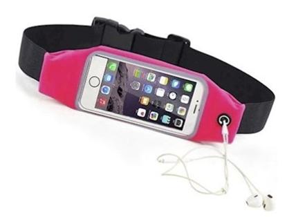 "Изображение Mocco Sport Bag for Activities window Phone 6.2"" with Hole for Headphones Pink"