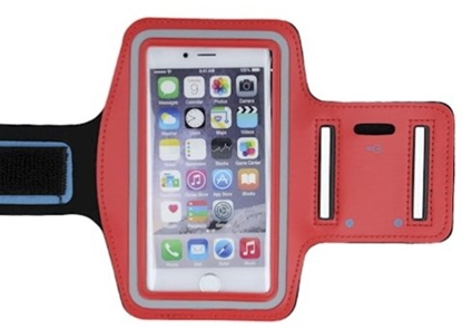 "Picture of Mocco Universal up to 6"" Armband Arm Case for Sport - Fitness Running Red"