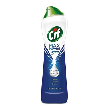 Attēls no Cif Max Power Oceanwave Cream Cleaner with Bleach 385g