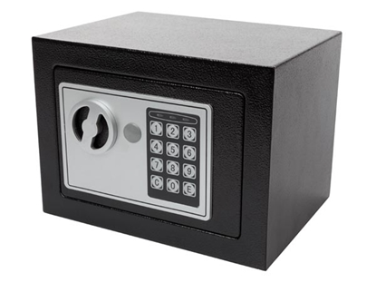 Picture of BG90014 Velleman Elektroniskais seifs ELECTRONIC SAFE BOX - 17 x 23 x 17 cm - BLACK