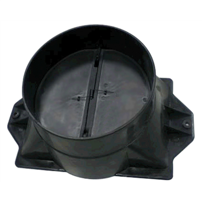 Picture of CATA Hood accessory Adaptor + Check Valve 02832004 for LEGEND/SYGMA/SELENE/GAMMA/GOYA/THALASSA/ATENEA/BIBLOS/GC DUAL, Black