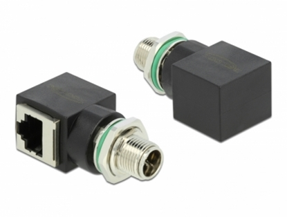 Изображение Delock Network Adapter M12 8 pin X-coded male to RJ45 jack