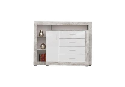Изображение Tuckano Chest of drawers 136x104x40 WARSAW atelier/white gloss