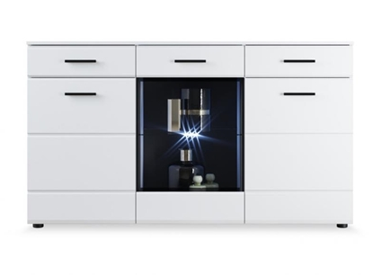 Изображение Tuckano Chest of drawers 150x86x45 CANADA white high gloss