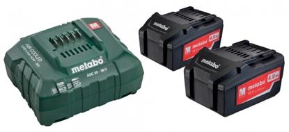Picture of Akumulatora un lādētāja komplekts 2 x 4,0 Ah plus ACS 55, Metabo