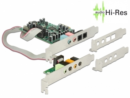 Изображение Delock PCI Express Soundcard 7.1 - 24 Bit / 192 kHz with TOSLINK In / Out