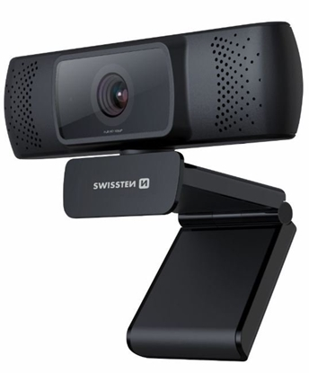 Picture of Swissten Full HD Web Camera with Microphone / Auto Focus USB 2.0 Black