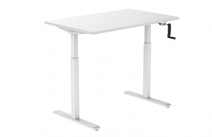Изображение Height adjustable table Up Up, white frame, manual height adjustment, 2-stage, white tabletop 1200x750mm