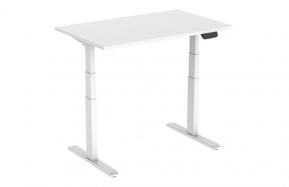 Изображение Height adjustable table Up Up, white frame, electric 2 motor height adjustment, 3-stage, white tabletop 1200x750mm