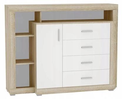 Изображение Tuckano Chest of drawers 136x104x40 WARSAW sonoma/white gloss