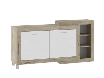 Изображение Tuckano Chest of drawers 179x90x42 ULTRA grey craft oak/white gloss
