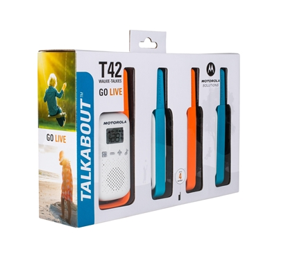 Picture of Motorola TALKABOUT T42 two-way radio 16 channels Blue,,Orange,White