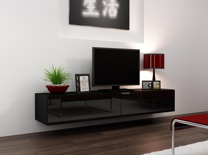 Изображение Cama TV Stand VIGO '180' 30/180/40 black/black gloss