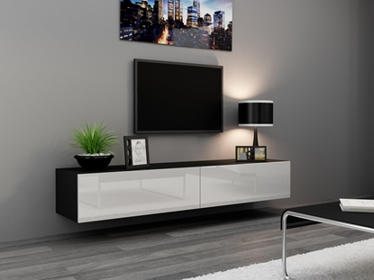 Изображение Cama TV Stand VIGO '180' 30/180/40 black/white gloss