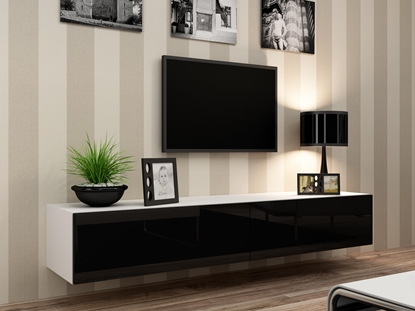 Изображение Cama TV Stand VIGO '180' 30/180/40 white/black gloss