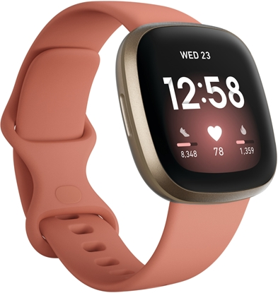 Picture of Fitbit Versa 3 Soft Gold Aluminum Pink Clay