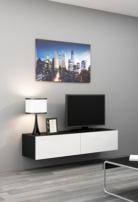 Изображение Cama TV stand VIGO 140 30/140/40 black/white gloss